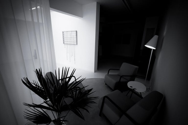 White Out Studio by night