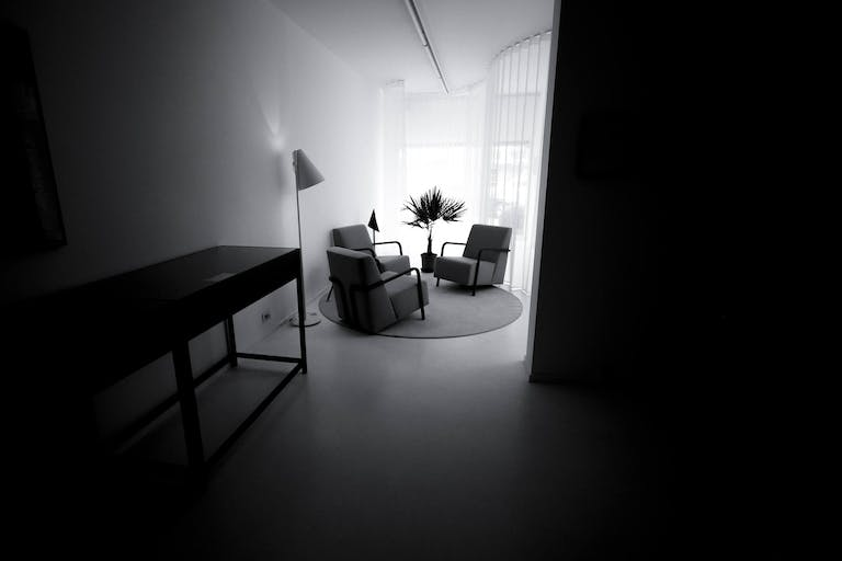 White-out-studio in Knokke, Belgium.